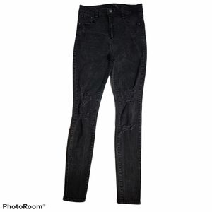 Dynamite Distressed High Rise Black Jeans Size 28